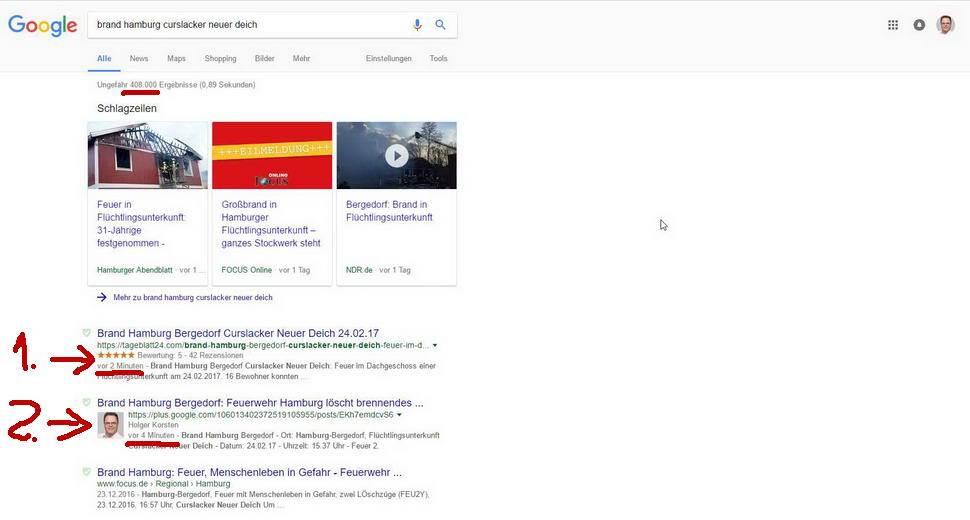 Auf Platz 1 bei Google in 3 Minuten
