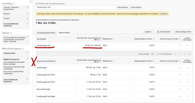 Keyword Recherche Google Keyword Planer4