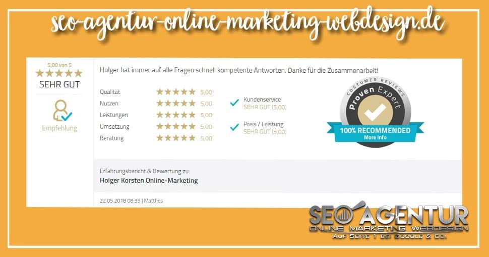 Online Marketing Testimonial Matthes