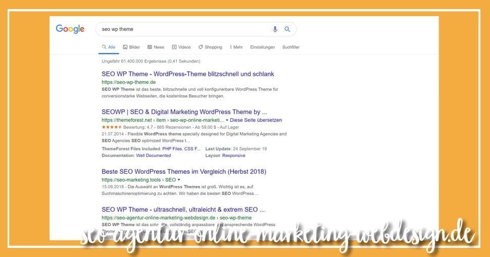 Seite 1 bei Google